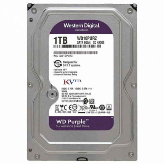 "Disque dur Western Digital WD Purple Surveillance    1 To / 3,5 "" / SATA III / 64 Mo"