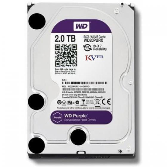 "Disque dur Western Digital WD Purple Surveillance    2 To / 3,5 "" / SATA III / 64 Mo"