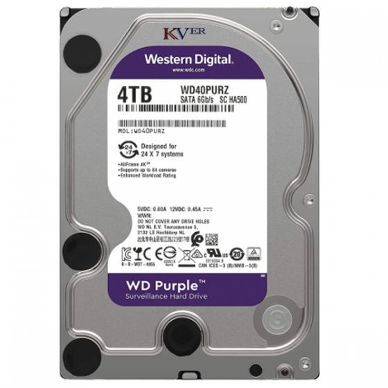 "Disque dur Western Digital WD Purple Surveillance    4 To / 3,5 "" / SATA III / 64 Mo"