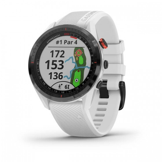 Montre Spécial GOLF Approach S62 Céramique noir avec bracelet blanc