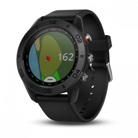 Montre Spécial GOLF Approach S60 Noire avec bracelet en silicone noir
