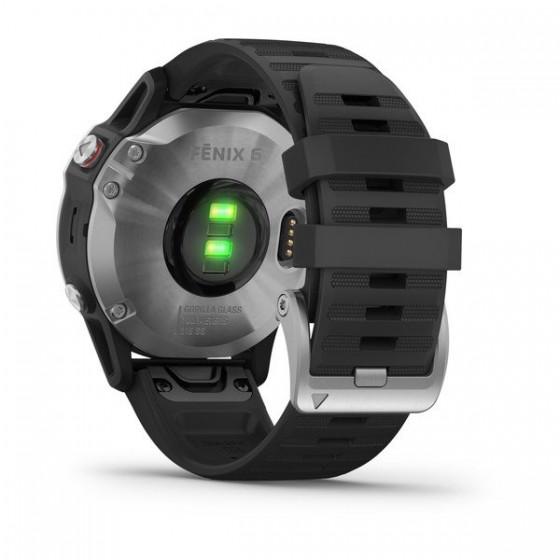 Fenix 6 Silver bracelet noir