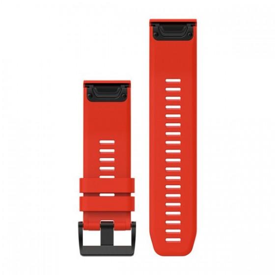 Bracelets de montre QuickFit 26 GARMIN Silicone Rouge avec KVER Maroc