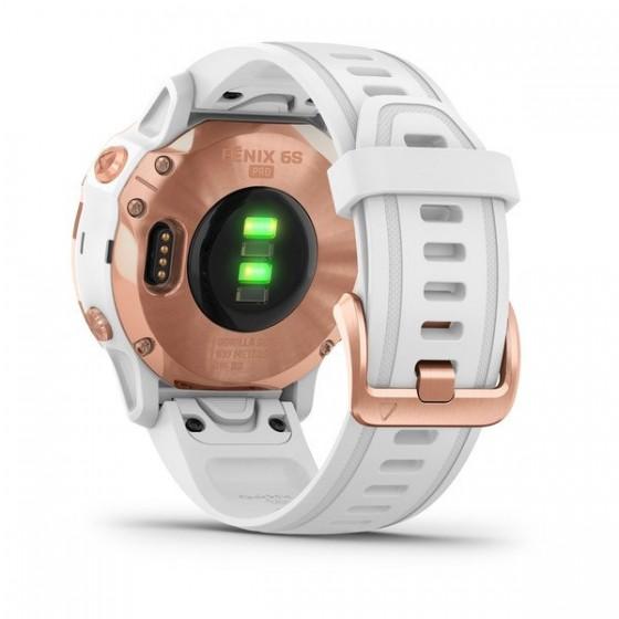 Fenix 6S Pro and Sapphire avec bracelet blanc