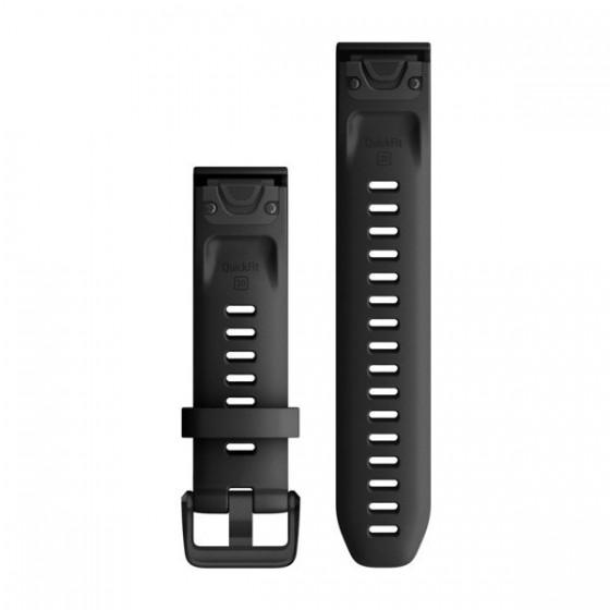 Bracelets de montre QuickFit 20mm GARMIN Silicone noir