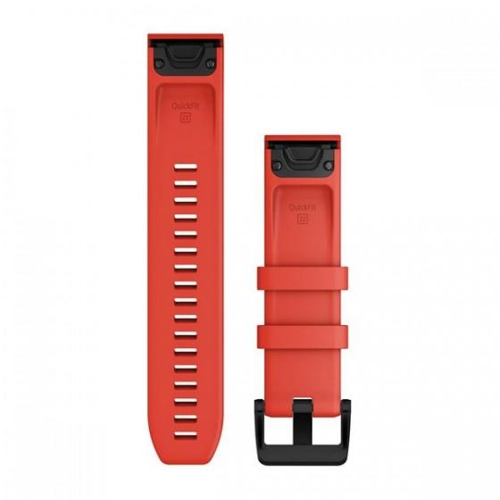 Bracelets de montre QuickFit 22mm GARMIN Silicone Rouge Vif