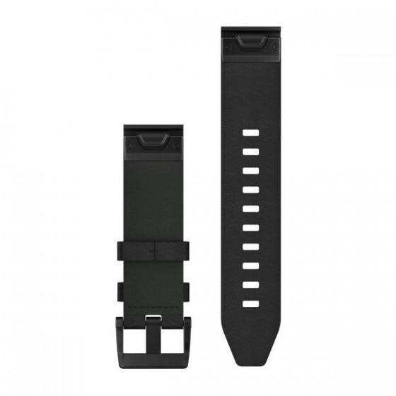 Bracelets de montre QuickFit 22mm GARMIN Cuir noir
