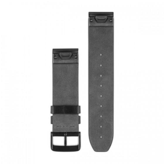 Bracelets de montre QuickFit 22mm GARMIN Cuir noir perforé