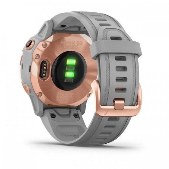 Fenix 6S Pro and Sapphire avec bracelet gris