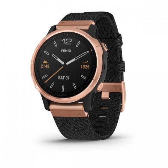 Fēnix 6S Pro and Sapphire avec bracelet noir