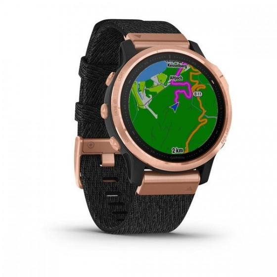 Fenix 6S Pro and Sapphire avec bracelet noir