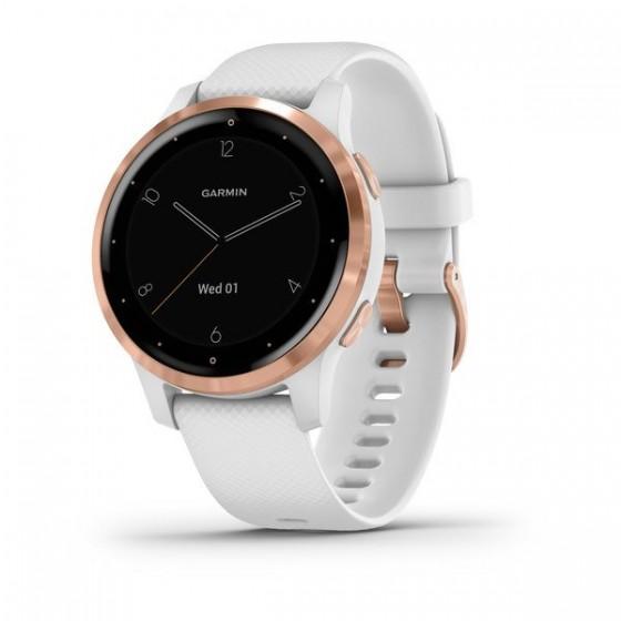 Montre Vívoactive 4S GARMIN Maroc Rose Gold avec bracelet silicone blanc