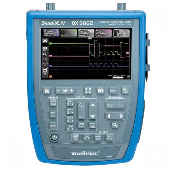 Oscilloscope, multimètre, analyseur, enregistreur et consultation des fichiers OX 9062 METRIX Maroc