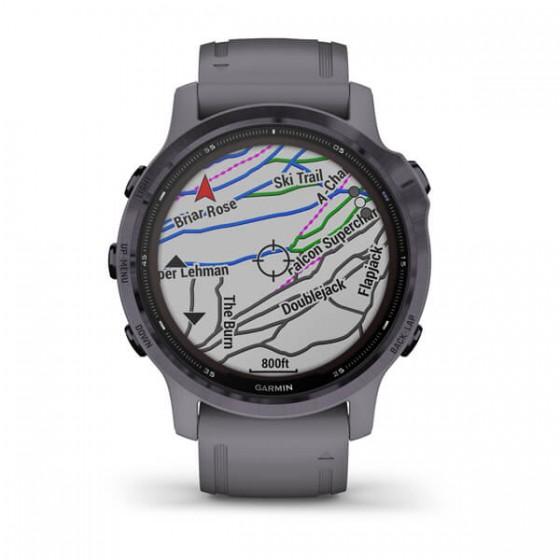 Fenix 6S Pro Solar Améthyste avec bracelet schiste