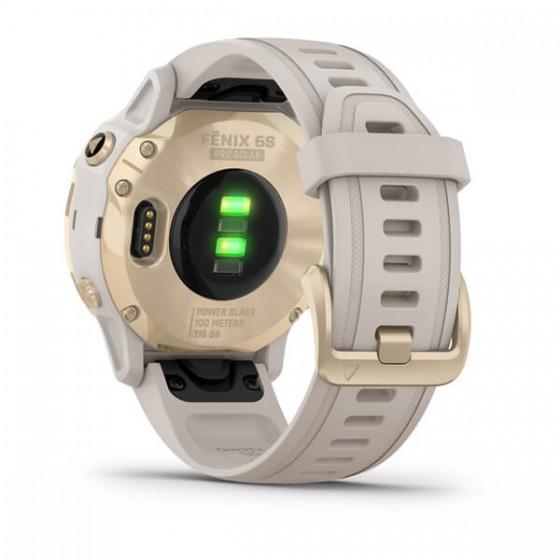 Fenix 6S Pro Solar Light Gold avec bracelet beige