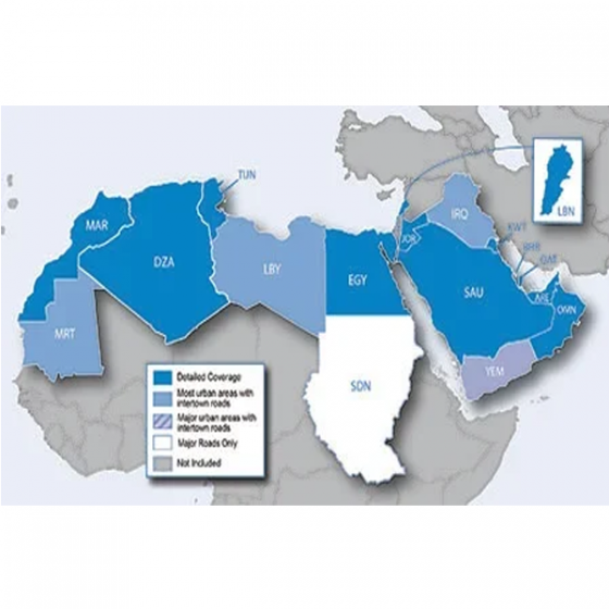 CARTE ROUTIERE MAROC MIDDLE EAST