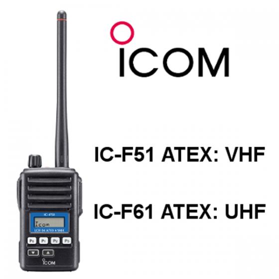 IC-F61 UHF ATEX TALKIE WALKIE
