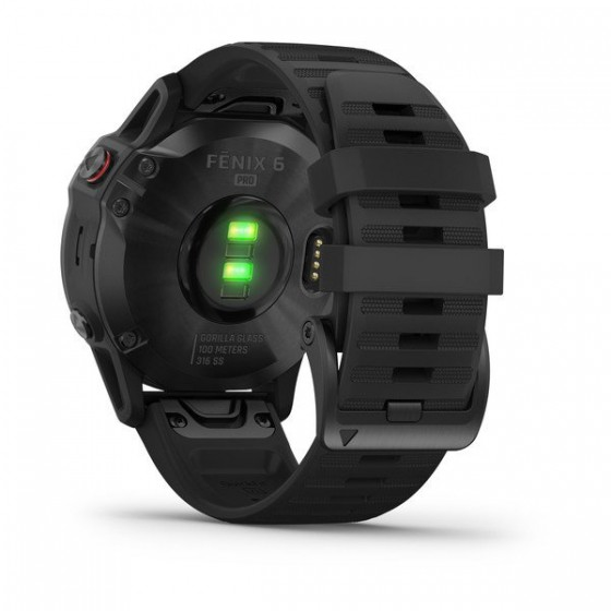 Fenix 6 Pro and Sapphire noire bracelet noir