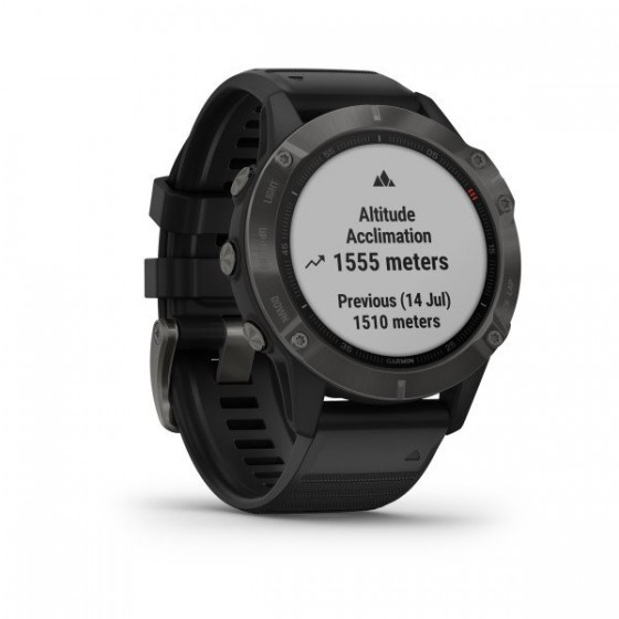 Fenix 6 Pro and Sapphire carbon gray DLC bracelet noir