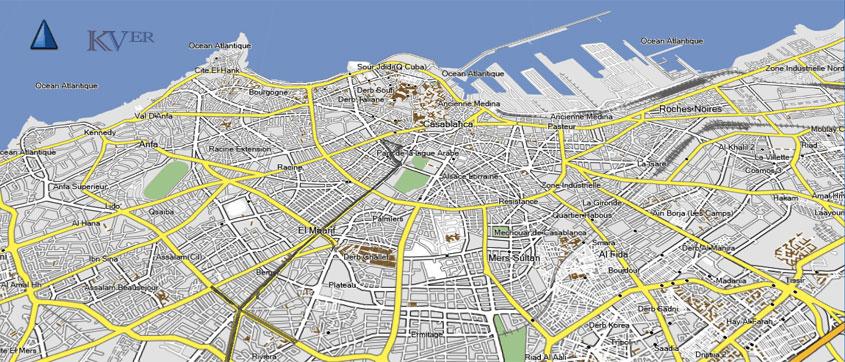 Carte du Maroc pour GPS GARMIN avec KVER Maroc